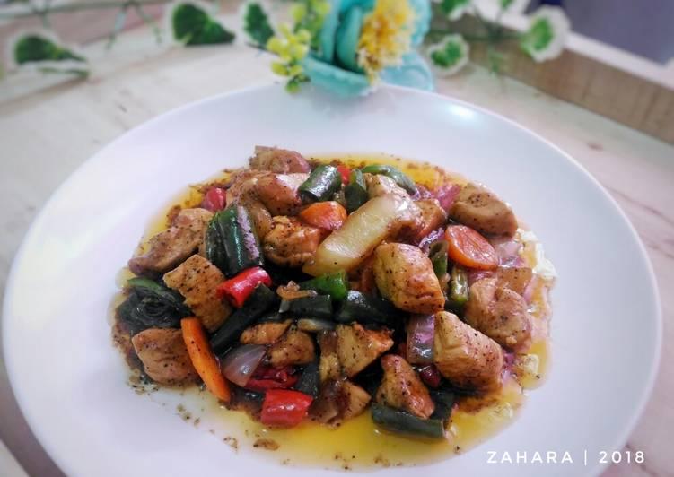 Resep Chicken Blackpepper #KamisManis