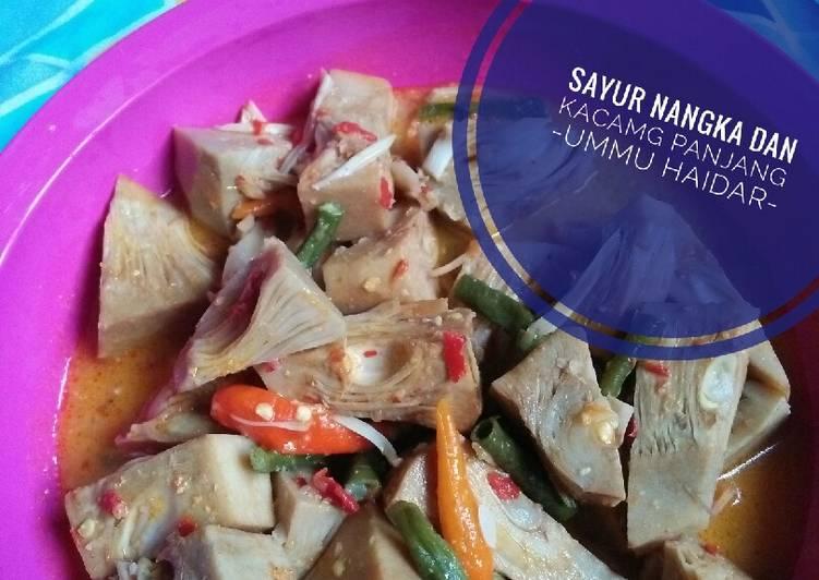 Resep Sayur nangka,kacang panjang (lodeh)