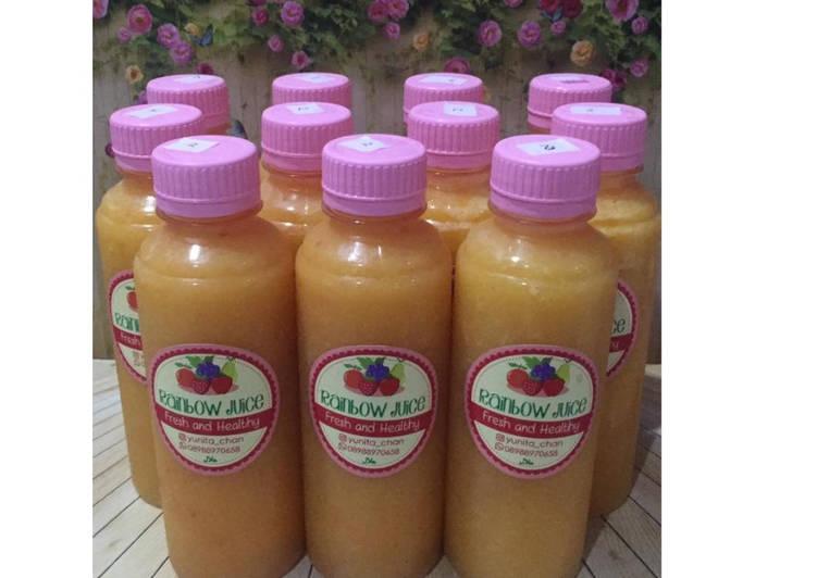 Resep Diet Juice Peach Orange Mango Jicama (Bengkoang)