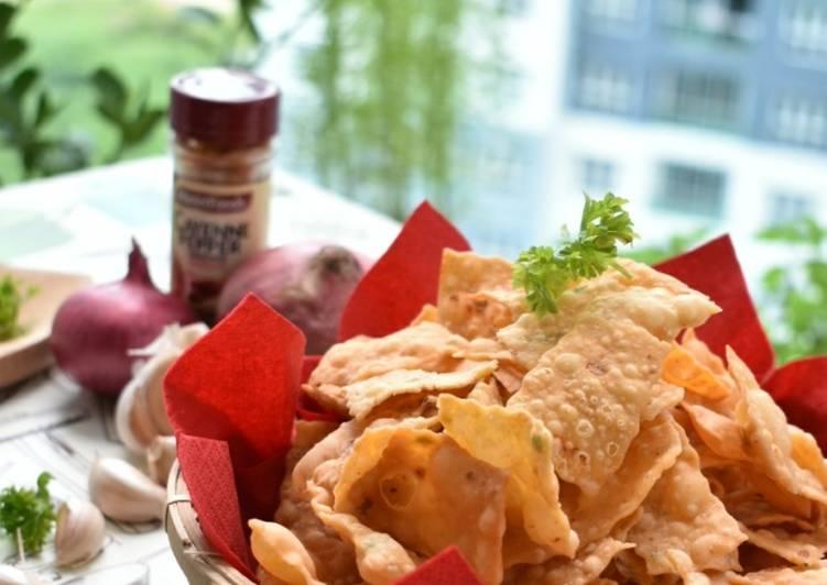 Resep Kue bawang (wangi,sedap,n renyah)