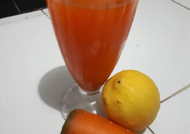 Resep Jus wortel lemon