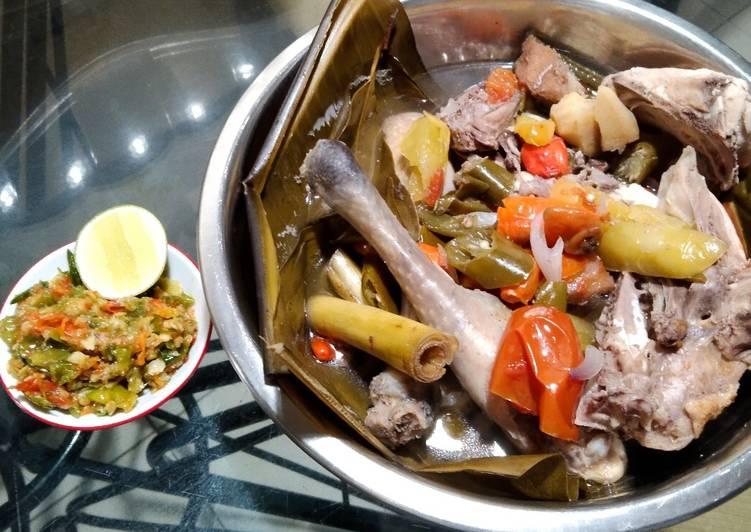Resep Garang Asem Ayam (tanpa santan) plus Sambal Bajak