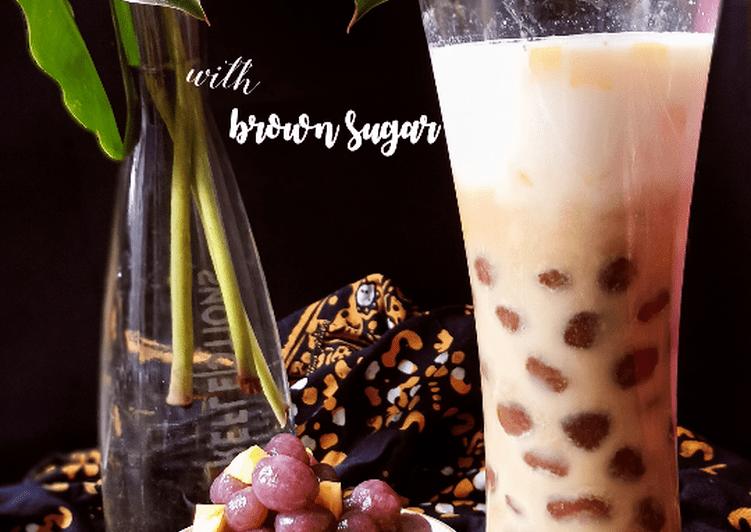 Resep Es Bobba Ubi (Sweet Potato Bubble with Brown Sugar)
