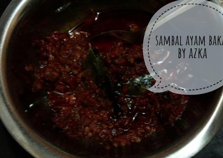 Resep #day Sambel ayam bakar