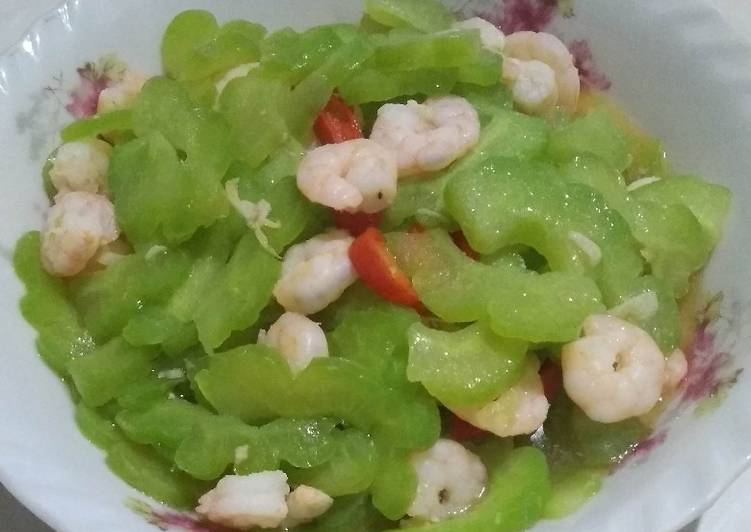 Resep Tumis Pare Campur Udang