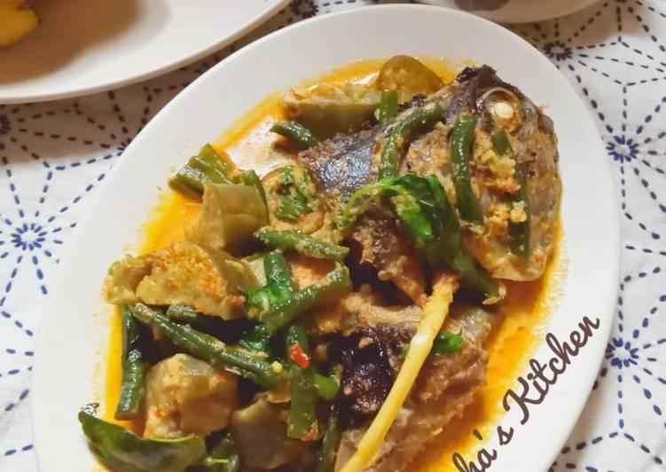 Resep Gulai Kacang Panjang Terong Kepala Ikan