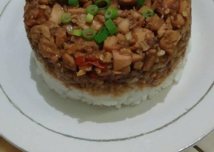 Resep Nasi Tim Ayam Pedas