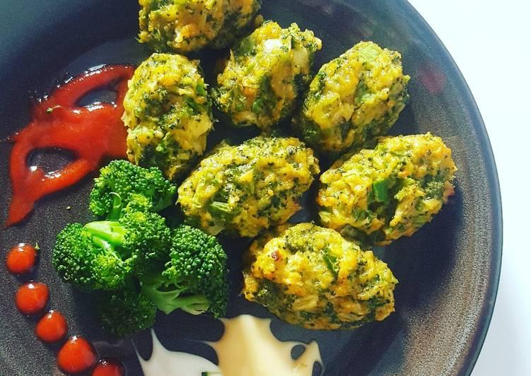 Resep Broccoli tots (snack brokoli panggang simpel) ala fe