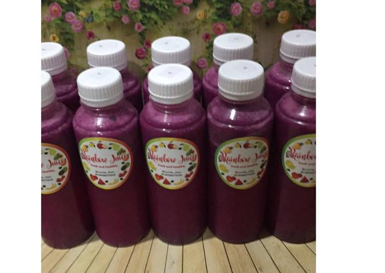 Resep Diet Juice Dragon Fruit Jicama Lemon Mint