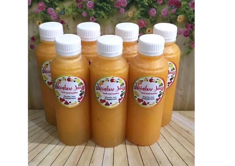 Resep Diet Juice Lychee Orange Plum Mango Turmeric