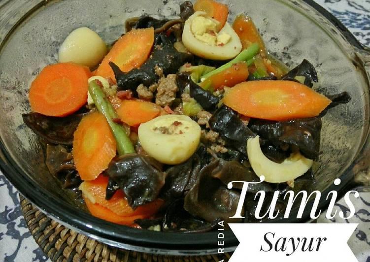 Resep Tumis Sayur Jamur Telur Puyuh (Bersihin Kulkas)