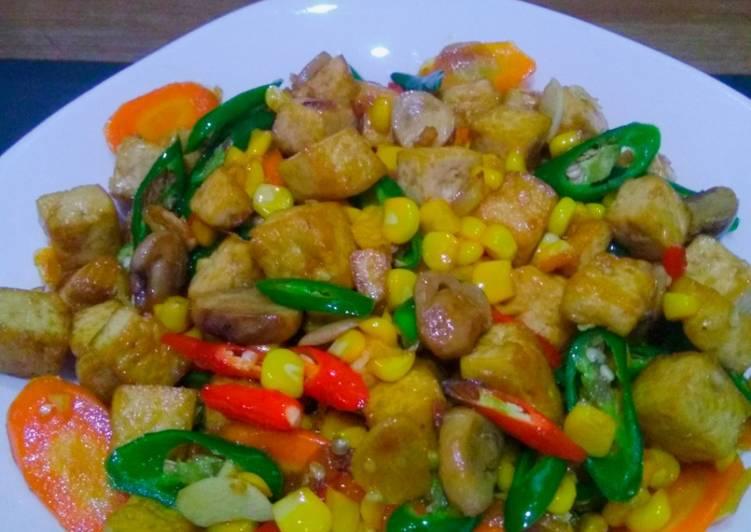 Resep Oseng tahu jamur ceria