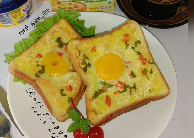 Resep Roti panggang telur keju