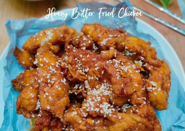 Resep Ayam Goreng Madu Mentega ala Korea