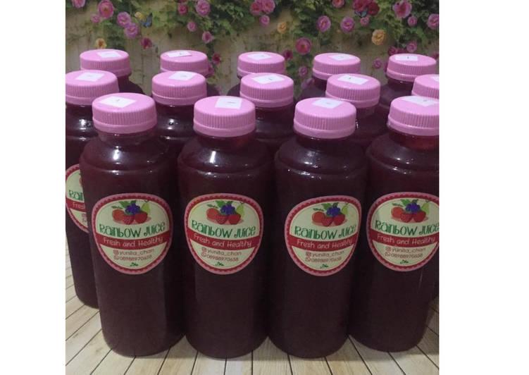 Resep Diet Juice Guava Blackberry Lemon Mint
