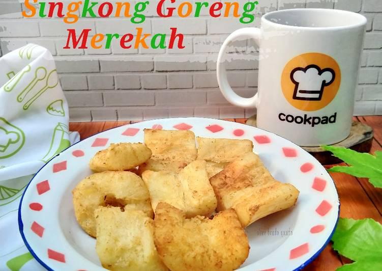 Resep Singkong goreng merekah / melepuh
