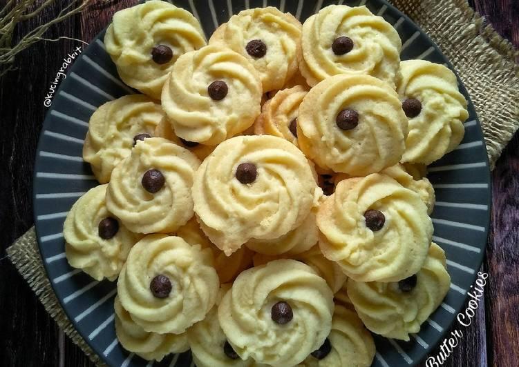 Resep (2.Eggless Danish Butter Cookies
