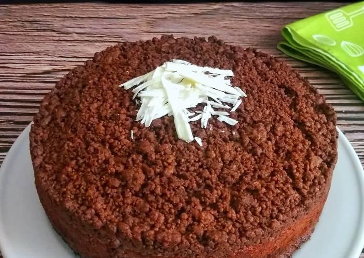 Resep Choco Crumble Banana Cake