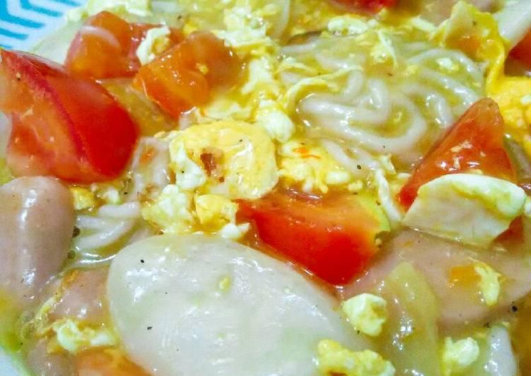 Resep Seblak pedas(rice cake&kerupuk)