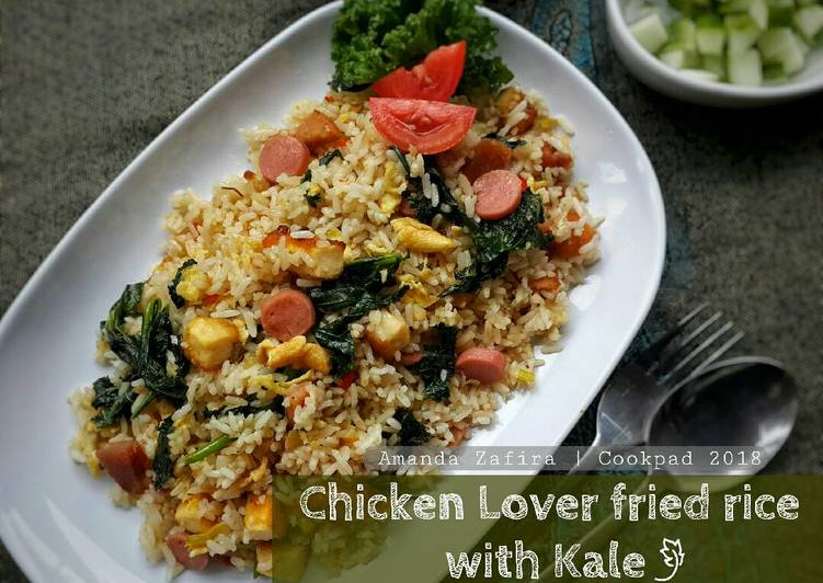 Resep Chicken lover fried rice with kale