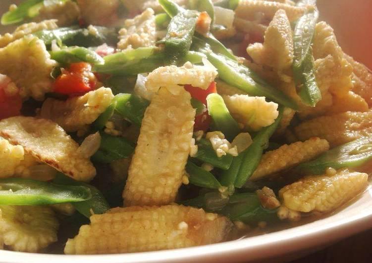 Resep Tumis buncis jagung putren