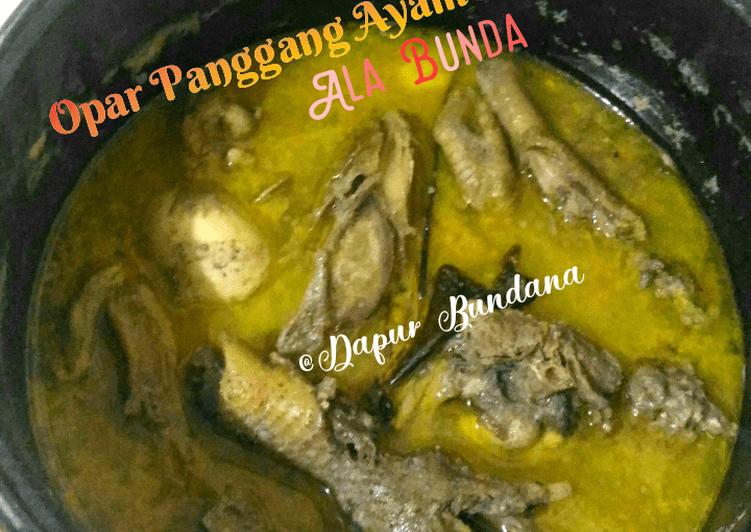 Resep Ayam / Enthok Panggang Lebaran Ala Bunda