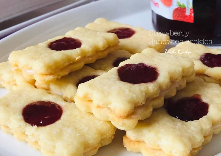 Resep Strawberry Sandwich Cookies