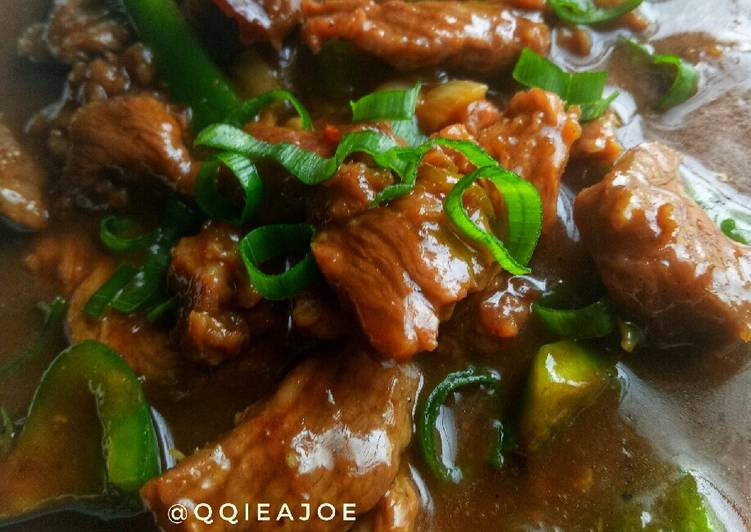 Resep Mongolian Beef Ala-ala #SeninSemangat
