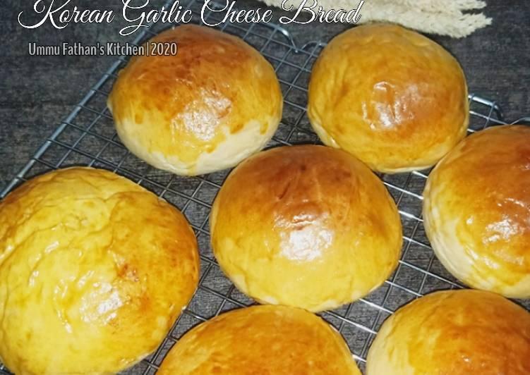 Resep Roti Bun untuk Korean Garlic Cheese Bread (No Mixer)