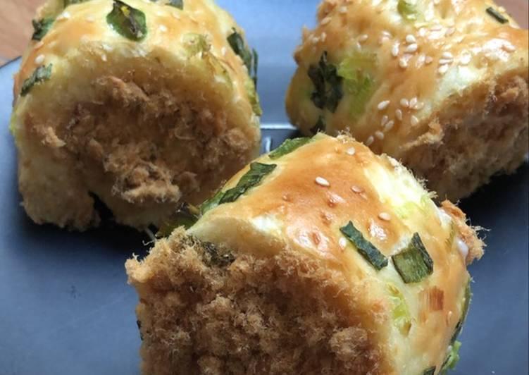 Resep Chicken Floss Roll Bread / Roti Gulung Abon Ayam