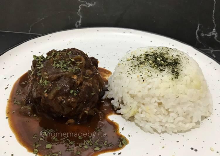 Resep Japanese Beef Hamburg Steak modif #homemadebylita