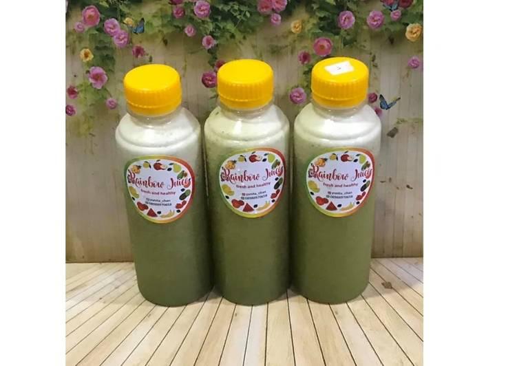 Resep Diet Juice Kale Cantaloupe Banana Lime Pineapple