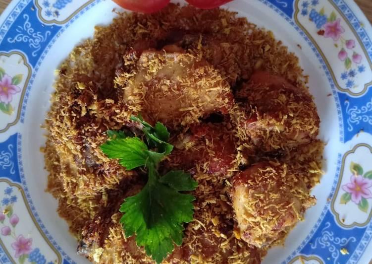 Resep Ayam goreng serundeng kelapa