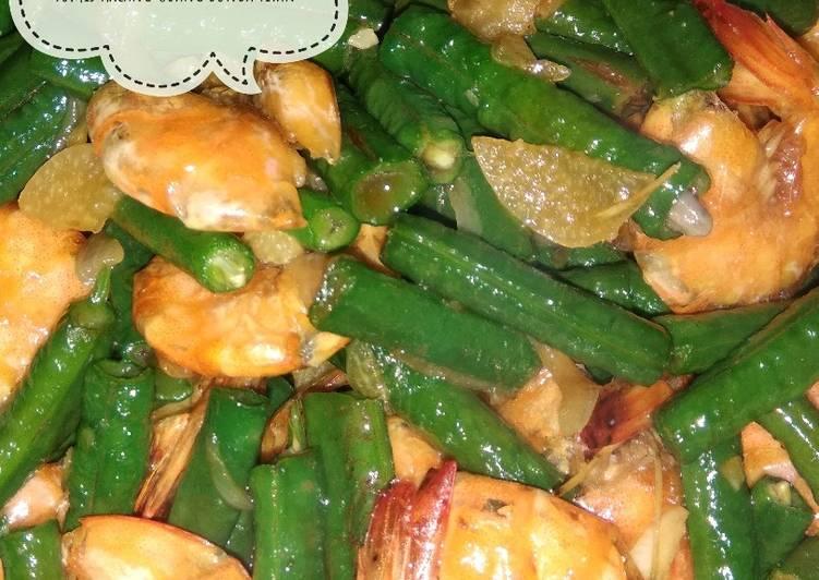 Resep Tumis Kacang Udang