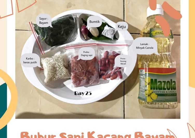 Resep Mpasi Day : Bubur Sapi Kacang Bayam