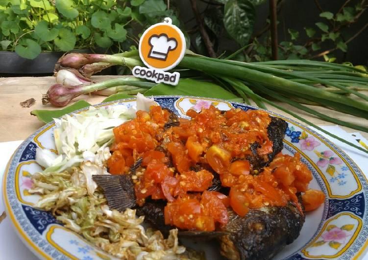 Resep Ikan Goreng Siram Sambal Tomat