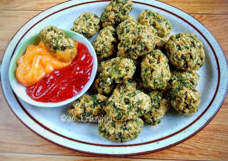Resep Broccoli Tots (snack brokoli panggang)