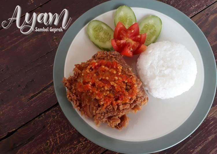 Resep Ayam sambel geprek