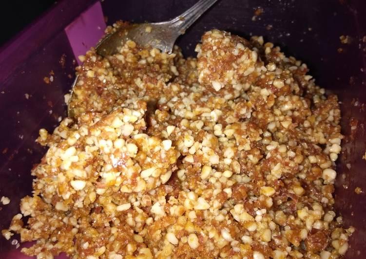 Resep Kacang tanah gula merah isian bakpao