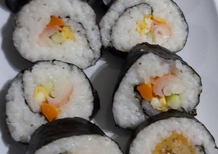 Resep Sushi sederhana bekal sekolah