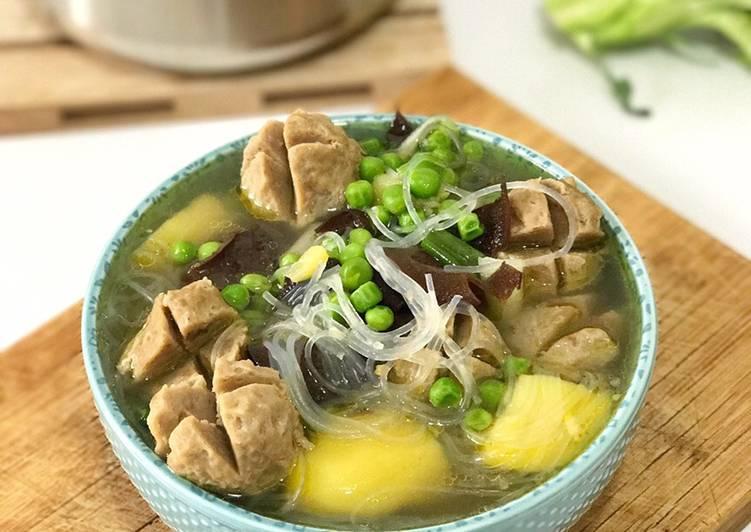 Resep Soup Bakso Sapi Simple