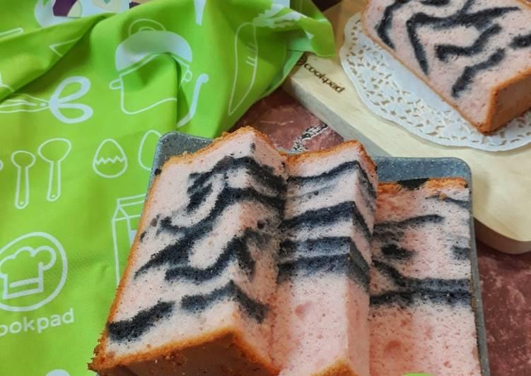 Resep 6Chiffon Cake Putih Telur Stroberi