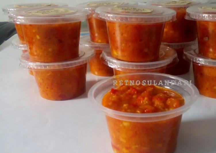 Resep Sambel tomat matang (u/ stok)