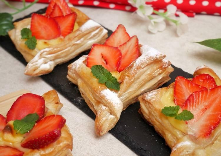 Resep Strawberry Danish Pastry