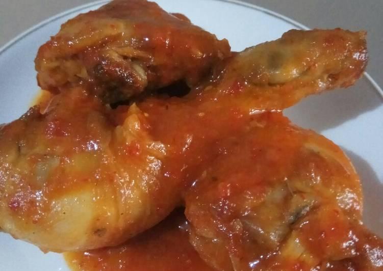 Resep Ayam saus Padang