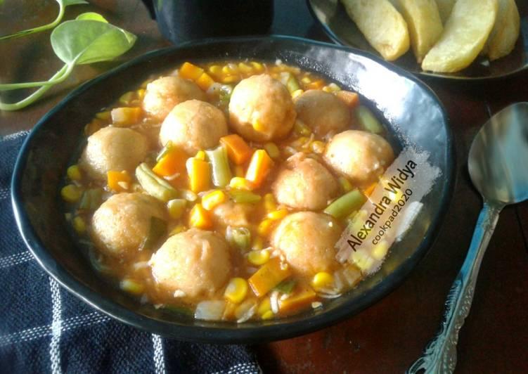 Resep Bistik Bakso Ayam