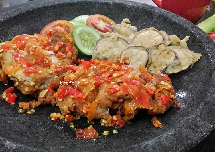 Resep Ayam Geprek (Sambal Bawang)