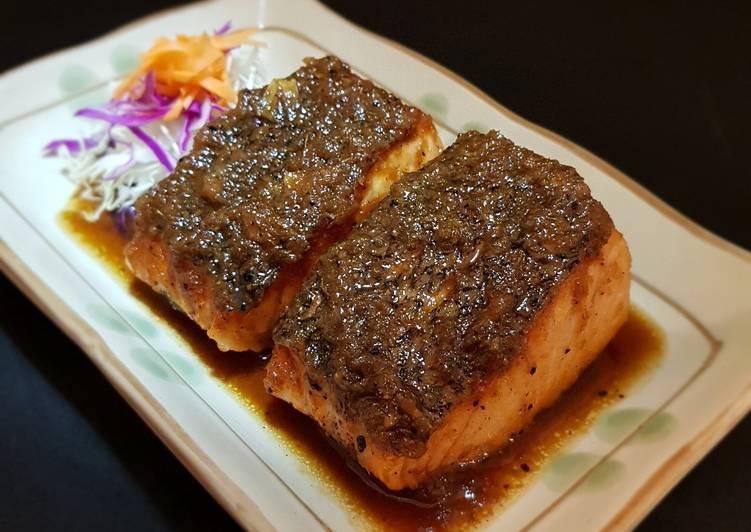 Resep Salmon Teriyaki