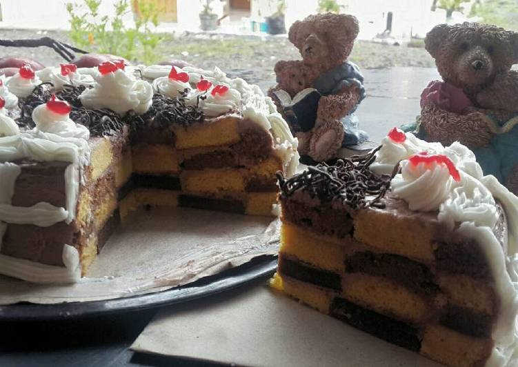 Resep CheckerBord Cake #KisahKasihCookpad