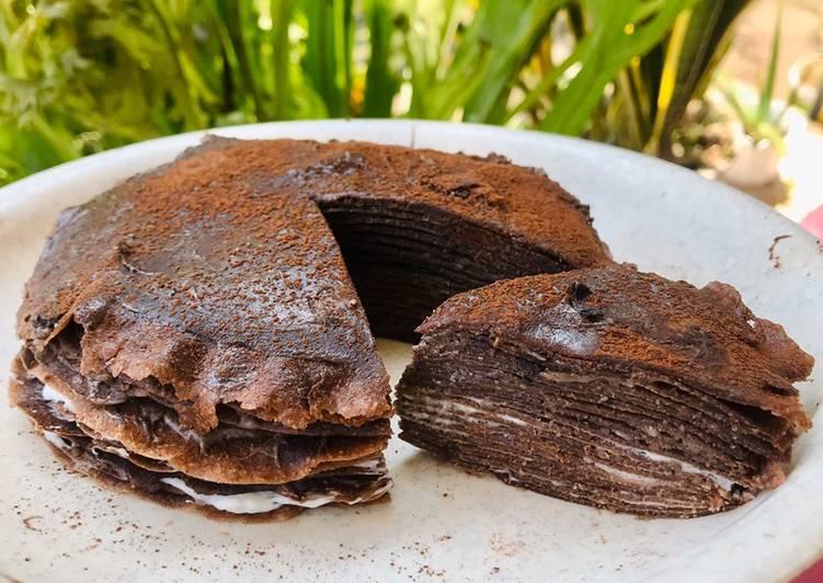 Resep Mille Crepes Oat Coklat